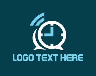 Clock - Chat Alarm logo design