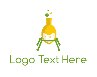 Test Tube - Lemon Laboratory logo design