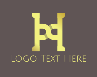 Yellow Letter H Logo
