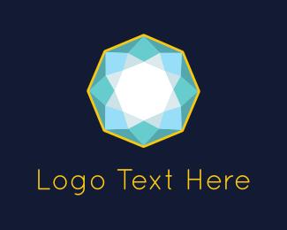Mandala - Blue Diamond logo design