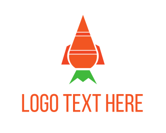 Carrot - Carrot Rocket logo design