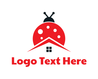 Pest Control - Lady Bug House logo design