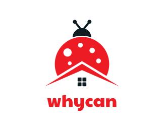 Bug Lady Bug House logo design