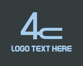 Number 4 - 4 & C logo design
