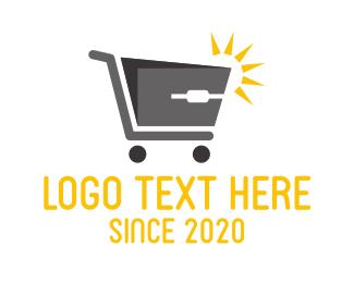 Minimart - Computer Mouse Shopping Cart logo design