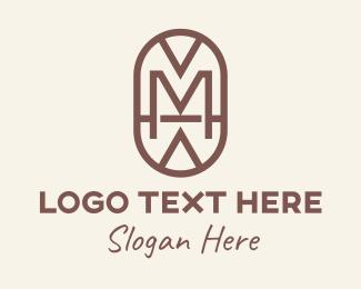 Hulu - Tribal Shield Letter M logo design
