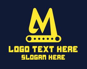 Excavator Letter M Logo