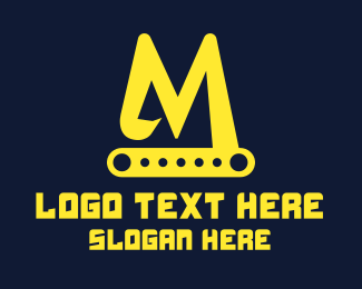 """""""Excavator Letter M"""" by SimplePixelSL"""