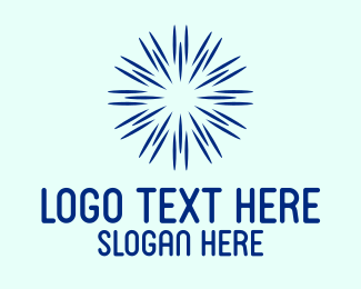 Firework - Blue Sun Spark logo design