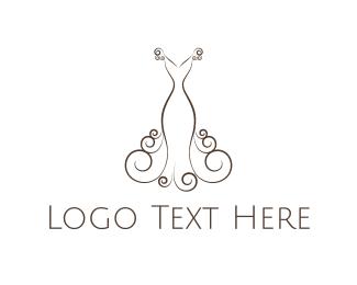 Gown - Elegant Wedding Dress logo design