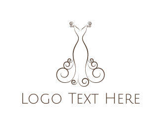 Marriage - Elegant Dress logo design