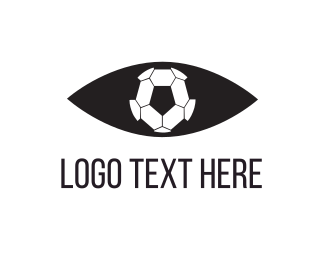 Barcelona - Soccer Eye Ball logo design
