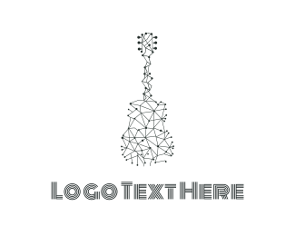Link - Wire Guitar logo design