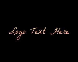 Signature - Vintage Gradient Wordmark Text logo design