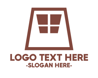 White And Brown - Brown Window logo design