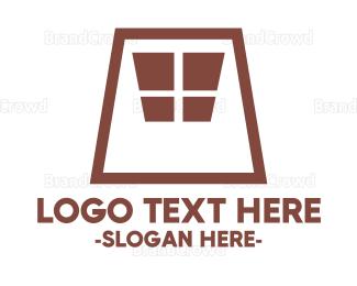 Window - Brown Window logo design