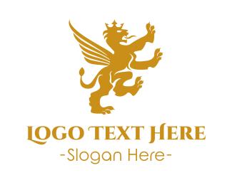 Chauffeur - Royal Winged Lion logo design
