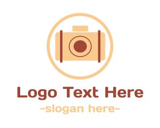 Image - Pink Vintage Camera logo design