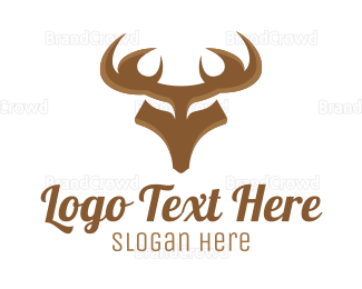 Antlers - Strong Deer logo design
