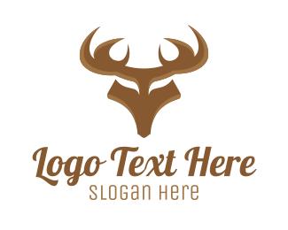Antlers - Strong Deer logo design