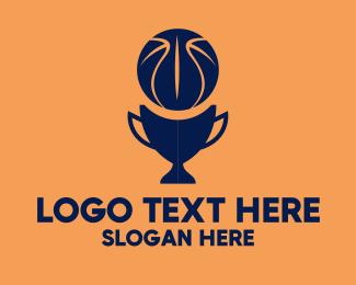 Sports - Simple Basketball Trophy  logo design