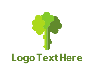 Food Store - Green Broccoli logo design