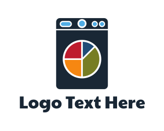 Financial - Laundry Chart logo design