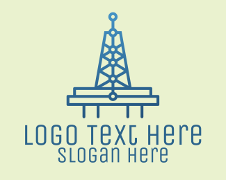 Business Solutions - Blue Signal Tower logo design