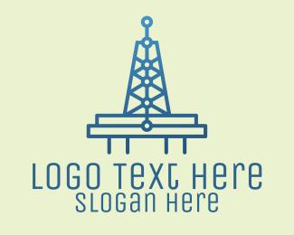 Signal - Blue Signal Tower logo design