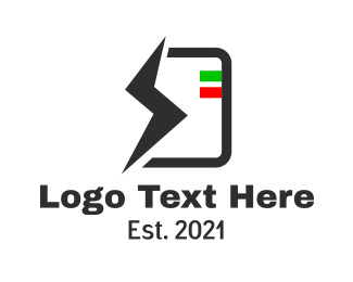Power - Electric Battery Power logo design