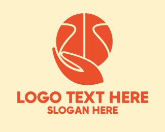 Player - Basketball Player Hand logo design