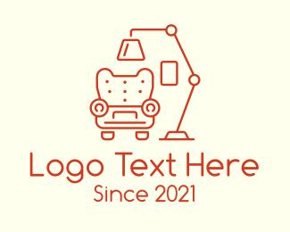 Living Room - Living Room Armchair Lamp logo design