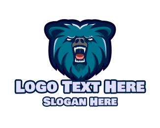 Nfl - Wild Blue Bear logo design