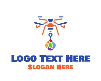 Guide - Colorful Drone logo design