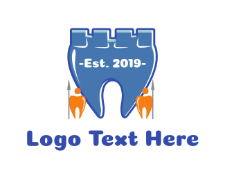 Orthodontic - Tooth Castle logo design