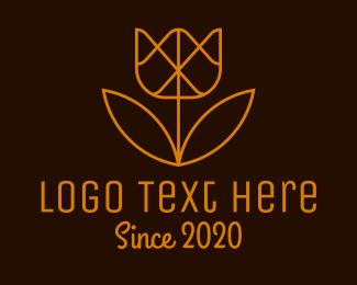 Minimal - Minimal Geometric Flower logo design