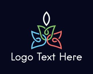 Candle - Flower Candle logo design