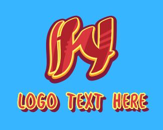 Graffiti - Graffiti Art Letter W logo design