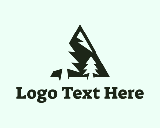 Backpacking - Pine Mountain logo design