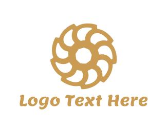 Brown Flower Logo