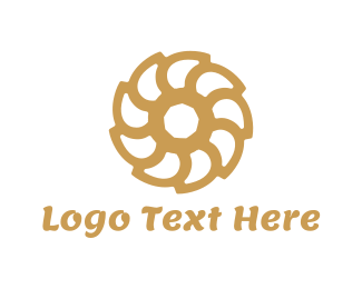 Shutter - Brown Flower logo design