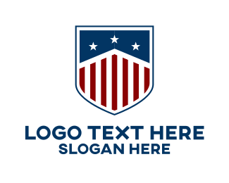 Election Campaign - Modern American Shield logo design