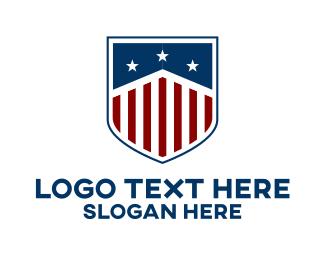 Institution - Modern American Shield logo design