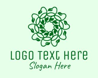 Vines - Green Natural Vines logo design