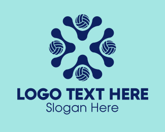 Volleyball Equipment - Volleyball Sports Club  logo design