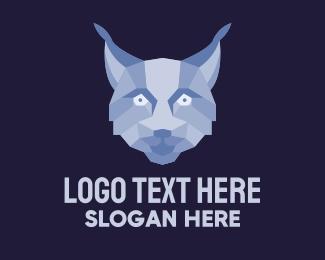 Caracal - Geometric Fox Face  logo design
