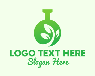 Science Experiment - Green Eco Laboratory logo design
