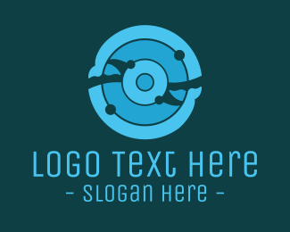 Circular - Abstract Whales logo design