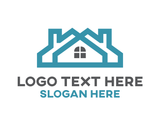 Teal - Teal Twin House logo design