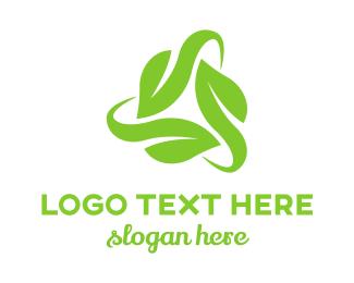 Cycling - Leaf Triangle logo design